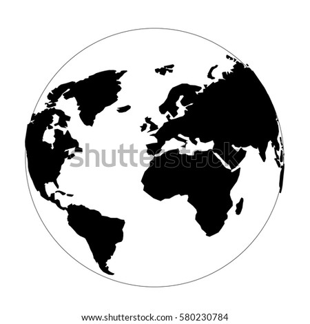 Globe continents world map vector surround stock vector 580230784 globe with continents of the world map vector surround clean illustration gumiabroncs Images