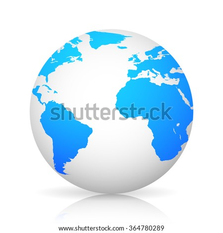 Globe world grey colored with shadow  stylish design