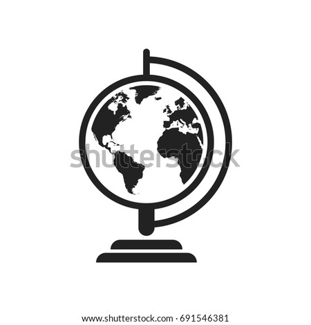Globe world map vector icon round stock vector hd royalty free globe world map vector icon round earth flat vector illustration planet business concept pictogram gumiabroncs Choice Image