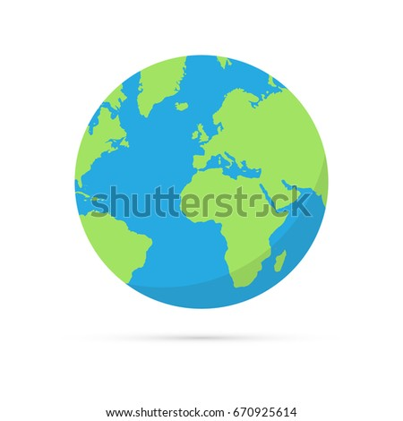 Globe world map shadow on white stock vector hd royalty free globe world map shadow on white stock vector hd royalty free 670925614 shutterstock gumiabroncs Image collections
