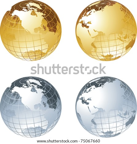 Globes - stock vector