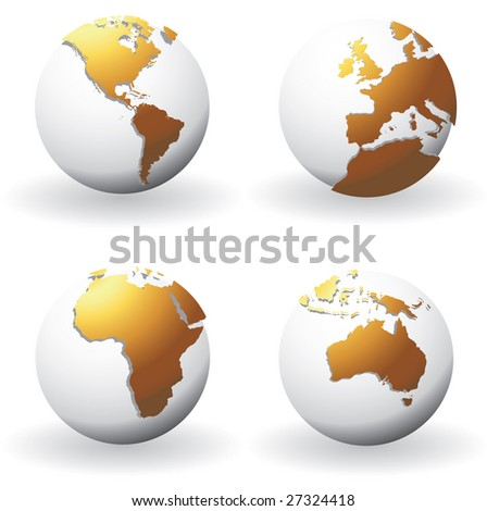 Globes with raised maps