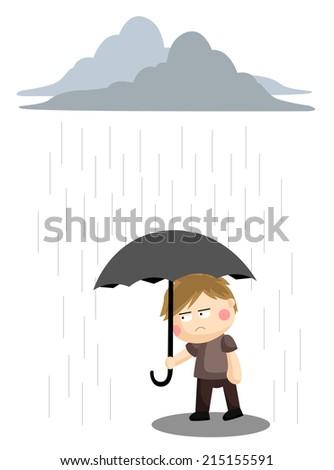 Gloomy Rain - stock vector