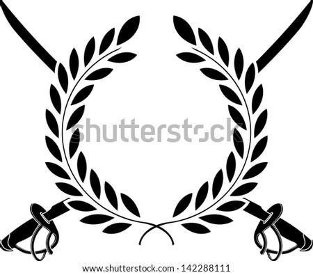glory of cavalry. stencil. vector illustration - stock vector
