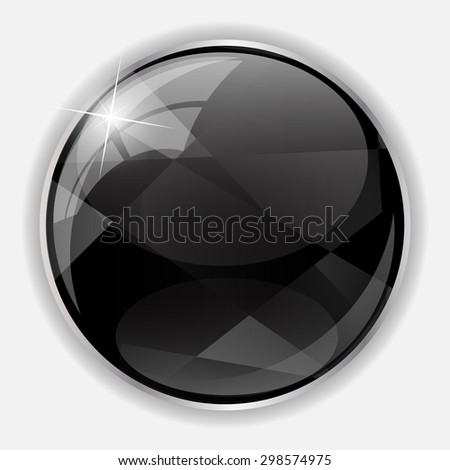 Glossy Application Icon Template Vector Illustration EPS10 - stock vector