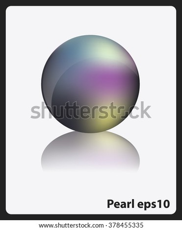 Glossy ball vector illustration  isolated on white background.