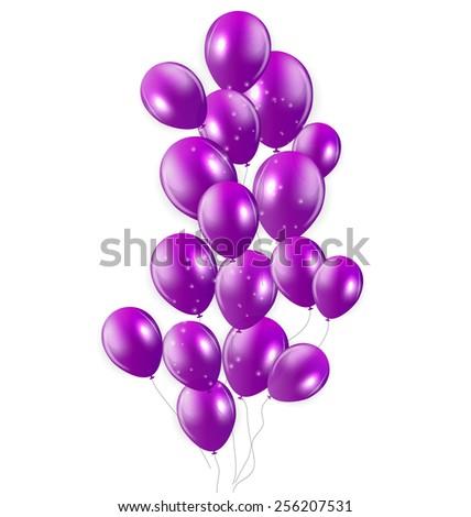 Glossy Balloons Background Vector Illustration EPS - stock vector