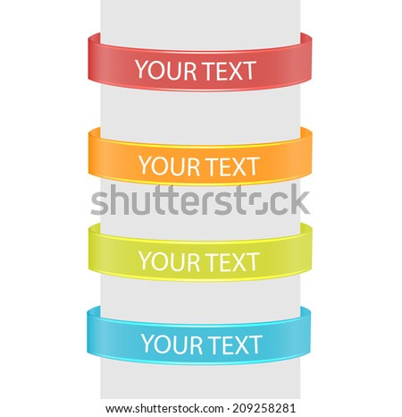 Glossy banners  set,  vector illustration  - stock vector