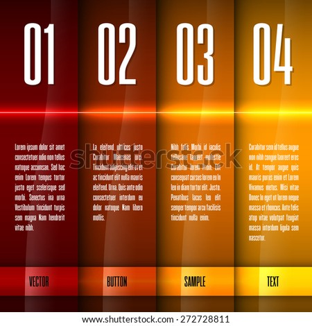 Glossy banners with glowing stripes. Modern vector layout. Hot graphic elements. - stock vector