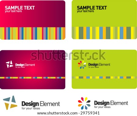 Glossy business card templates stock vector 29759341 shutterstock glossy business card templates reheart Choice Image