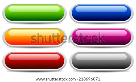 Glossy button, banner templates (Eps 10) - stock vector