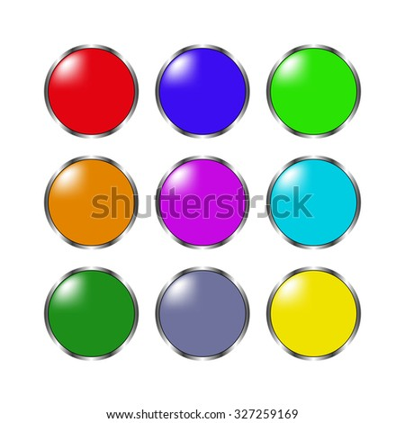 glossy buttons - set