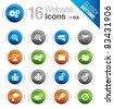 Glossy buttons - Web site and Internet Icons - stock vector