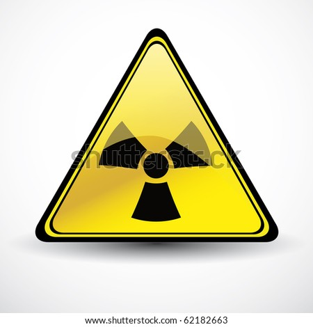 Glossy Chemical danger sign