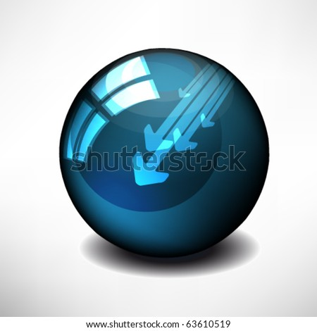 Glossy colorful abstract globe, with a arrows - stock vector