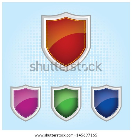 Glossy Colourful shield