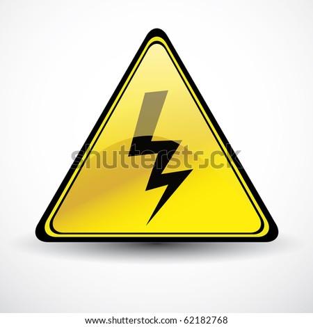 Glossy danger sign - stock vector