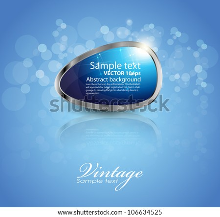 glossy download button, icon,speech with shadow and reflections vector - stock vector