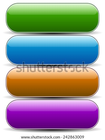 Glossy empty rounded button, banner backgrounds. - stock vector