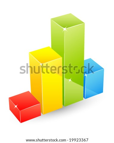 glossy graph - stock vector