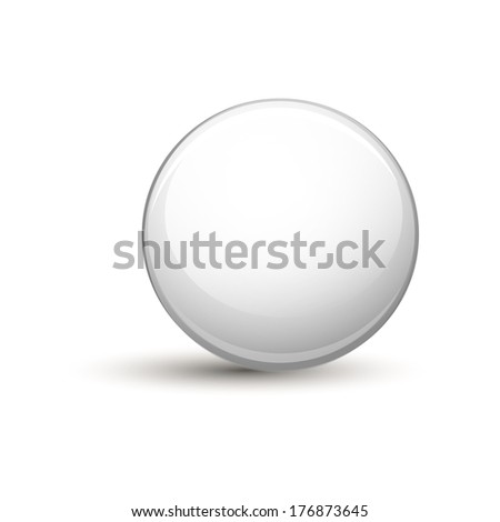 glossy gray button for web - stock vector