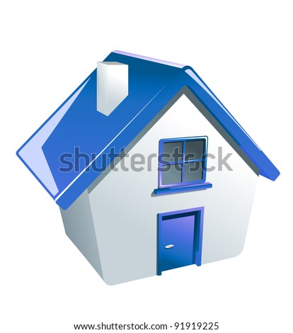 Glossy house icon for web or another design. Jpeg version also available in gallery - stock vector