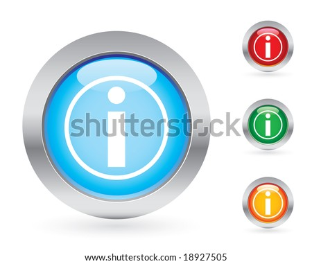 Glossy information button set