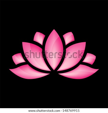 glossy lotus flower for design vector