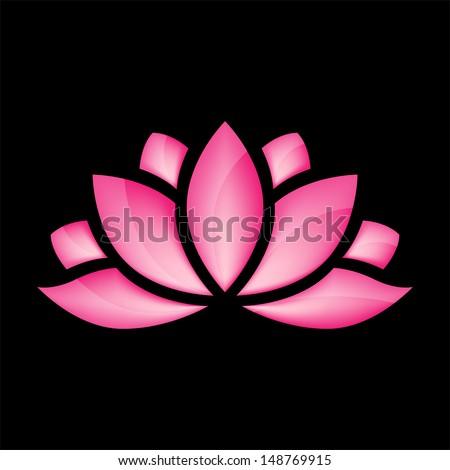 glossy lotus flower for design vector