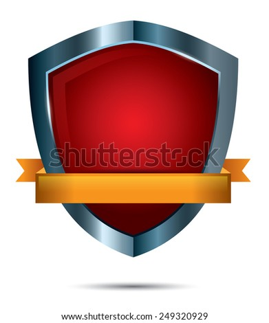 Glossy Metallic Icon - stock vector