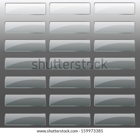 Glossy set of colored  web buttons. - stock vector