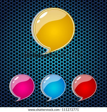 Glossy speech bubble set EPS 10. - stock vector