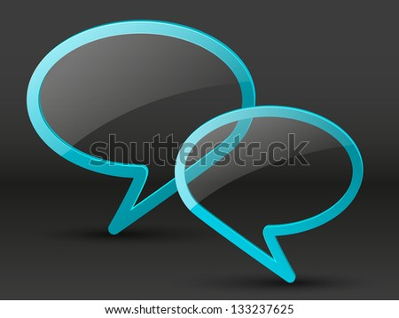 Glossy speech bubbles with place for text