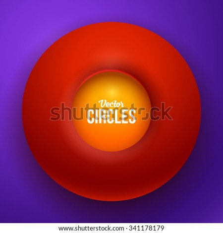 Glossy Spheres Abstract Design. Vector Illustration for Your Design. - stock vector