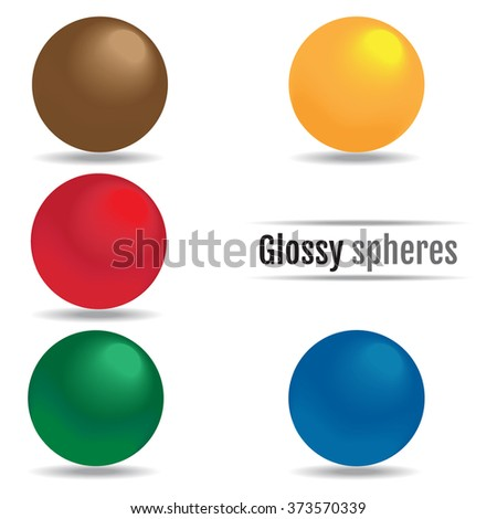 Glossy spheres JPEG, Object, Picture, Image, Graphic, Vector Art, JPG, EPS, Drawing - stock vector - stock vector