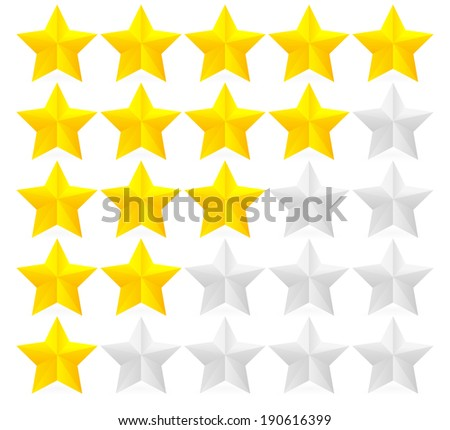 Glossy Star Rating vector - stock vector
