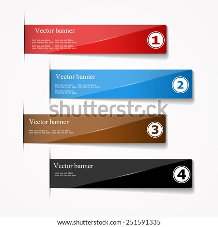 glossy stripe with four different options. - stock vector