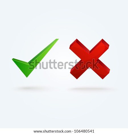 Glossy validation icons.This vector image is fully editable. - stock vector