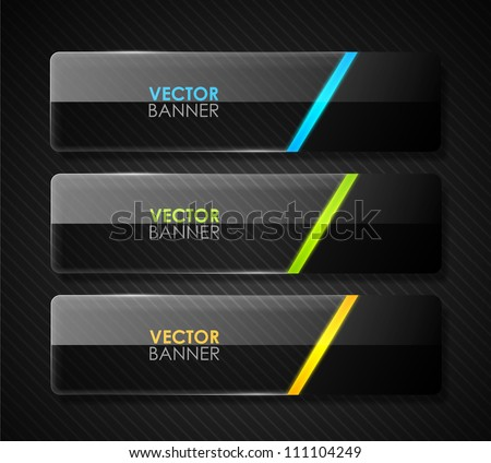 Glossy vector banners - stock vector