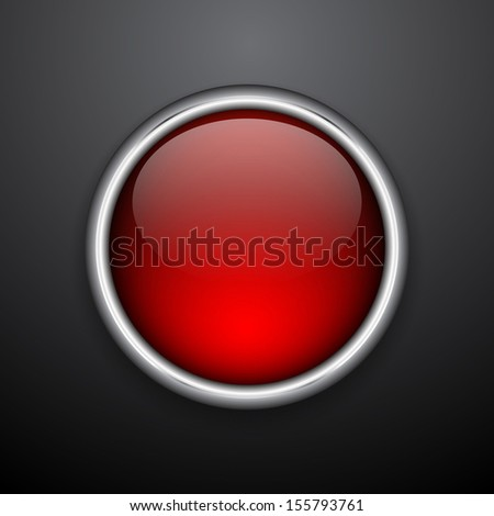 Glossy web button. Vector illustration