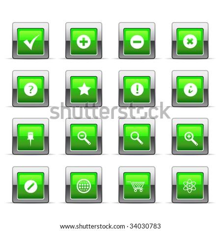Glossy web icon - stock vector
