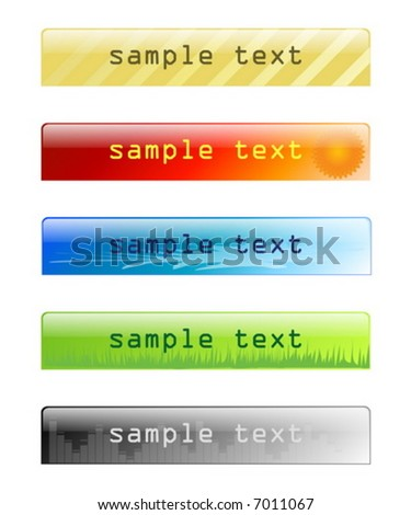 glossy website headers and banners part 2 - stock vector