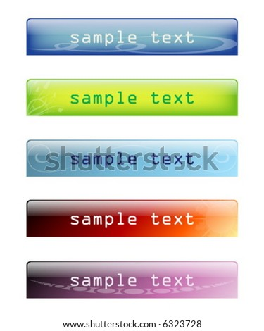 glossy website headers / banners - stock vector
