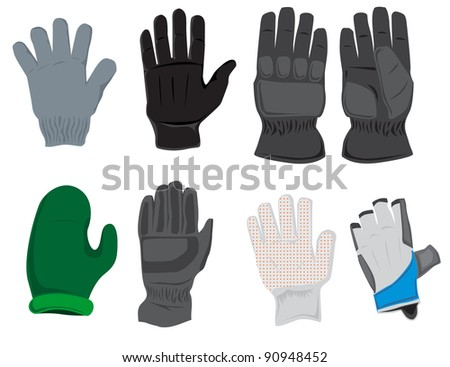 Gloves set - stock vector