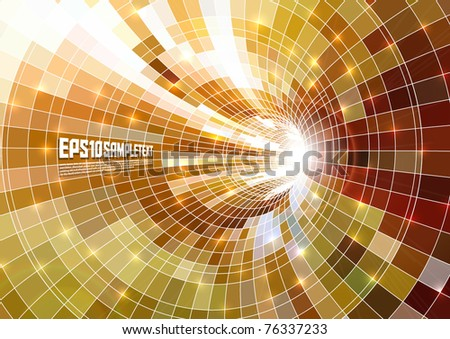 Glow from Mosaics Tunnel - stock vector