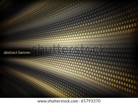 glowing abstract banner - stock vector