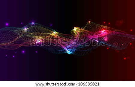Glowing abstract colorful mesh background