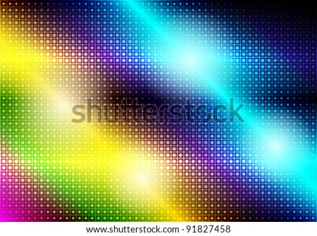 Glowing Abstract Party Background - stock vector
