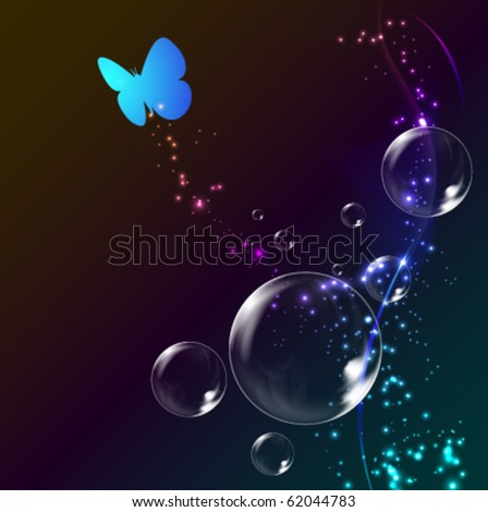 glowing bubble background - vector illustration - stock vector