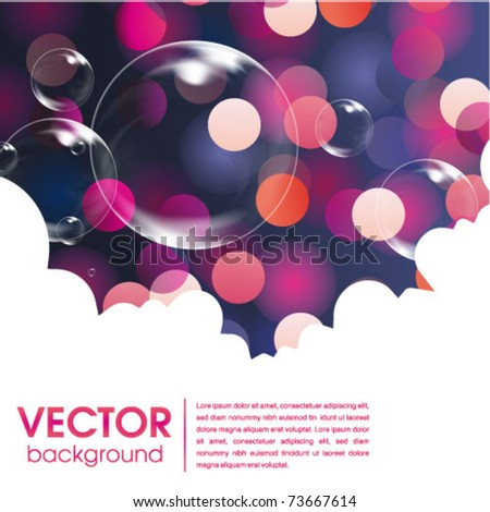 glowing bubble web and print template - stock vector